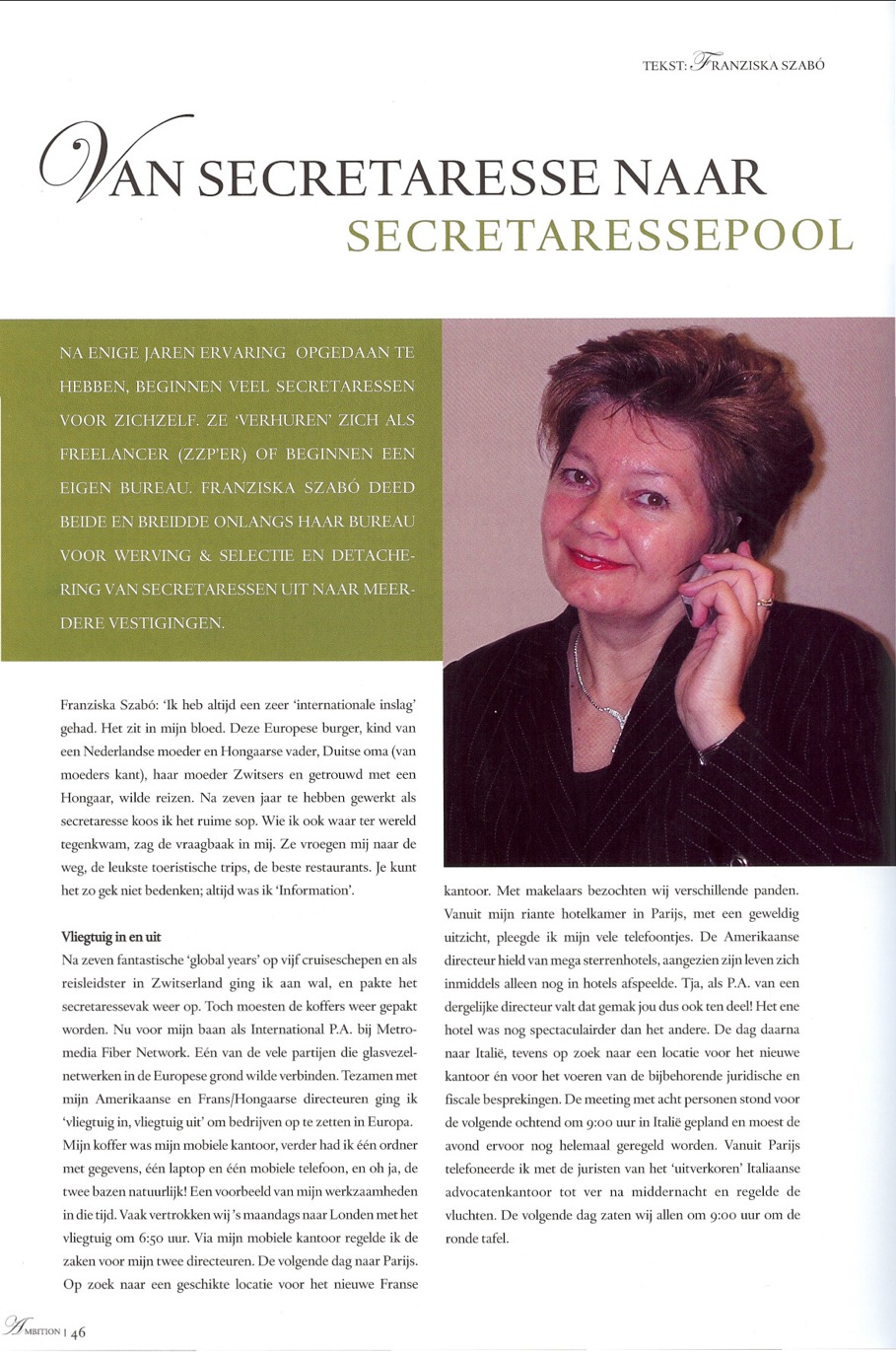 PA Online in Ambition Magazine, page 1