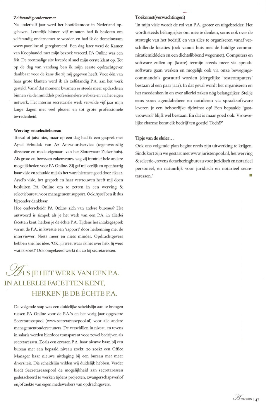 PA Online in Ambition Magazine, page2