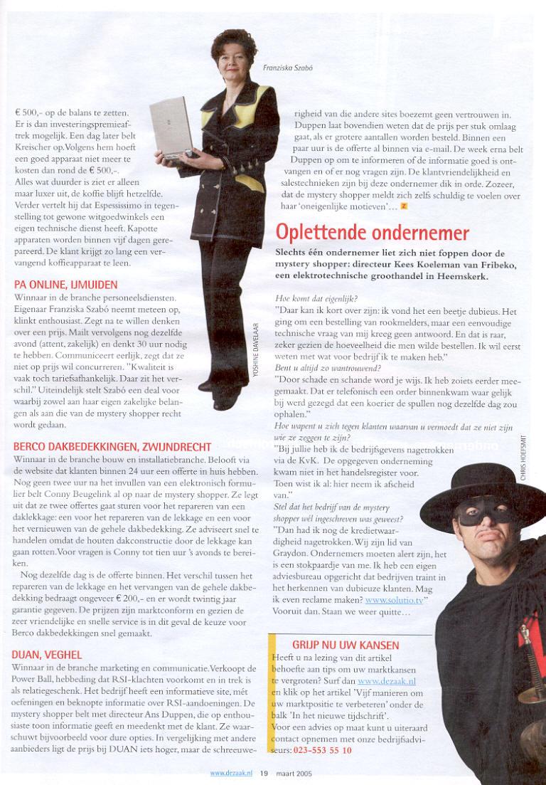 PA Online in De Zaak, Zij doen wat zij beloven, page 2
