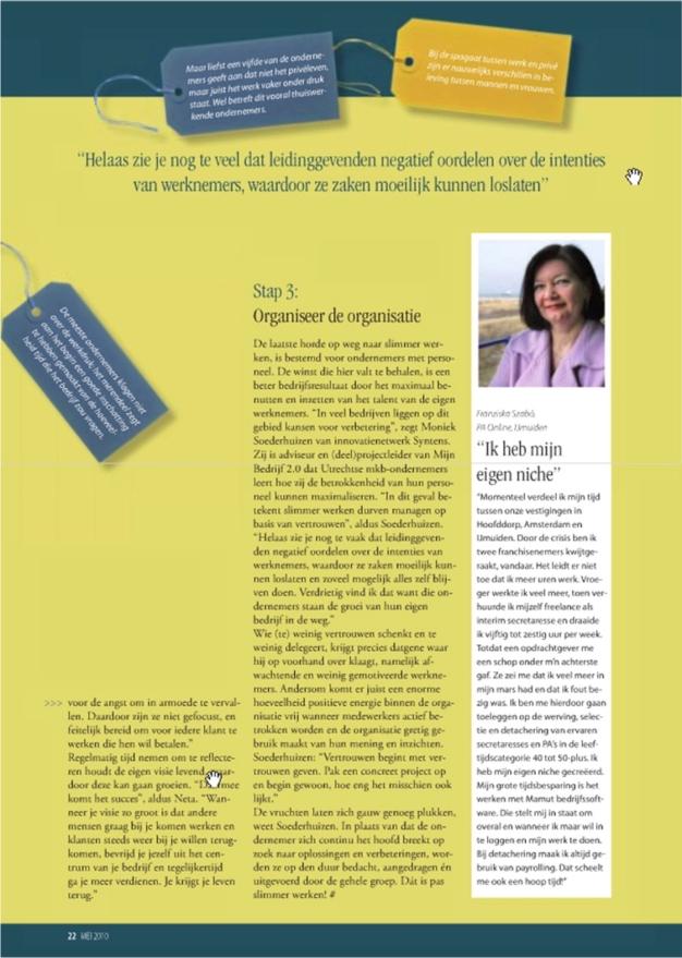 PA Online in De Zaak, 2010, Slimmer werken, page 2