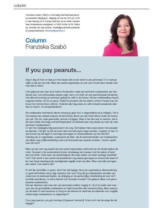 201903, Column Franziska 'If you pay peanuts', Flexmarkt juni 2019